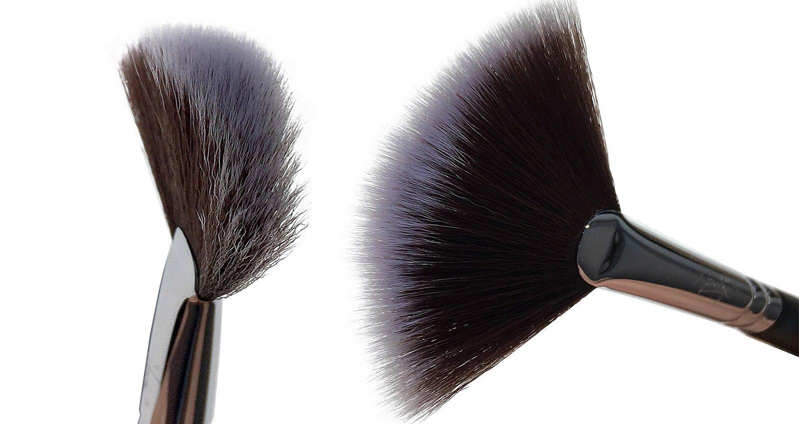 Come si usa il pennello a ventaglio nel make up minerale?