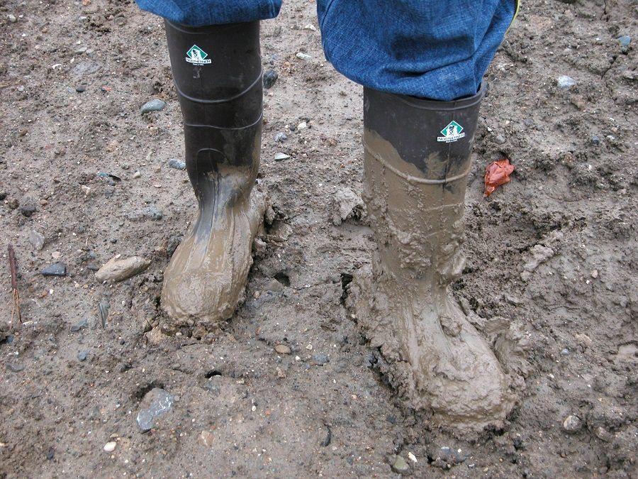 Aspettate che il fango sia secco prima di toglierlo