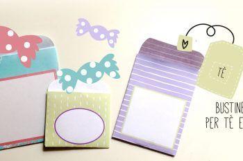 Le bustine per tè e caramelle da stampare