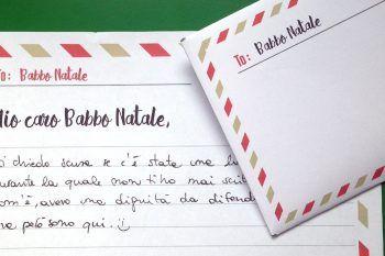 Lettere a Babbo Natale da stampare