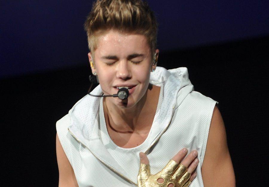 Justin Bieber durante un concerto
