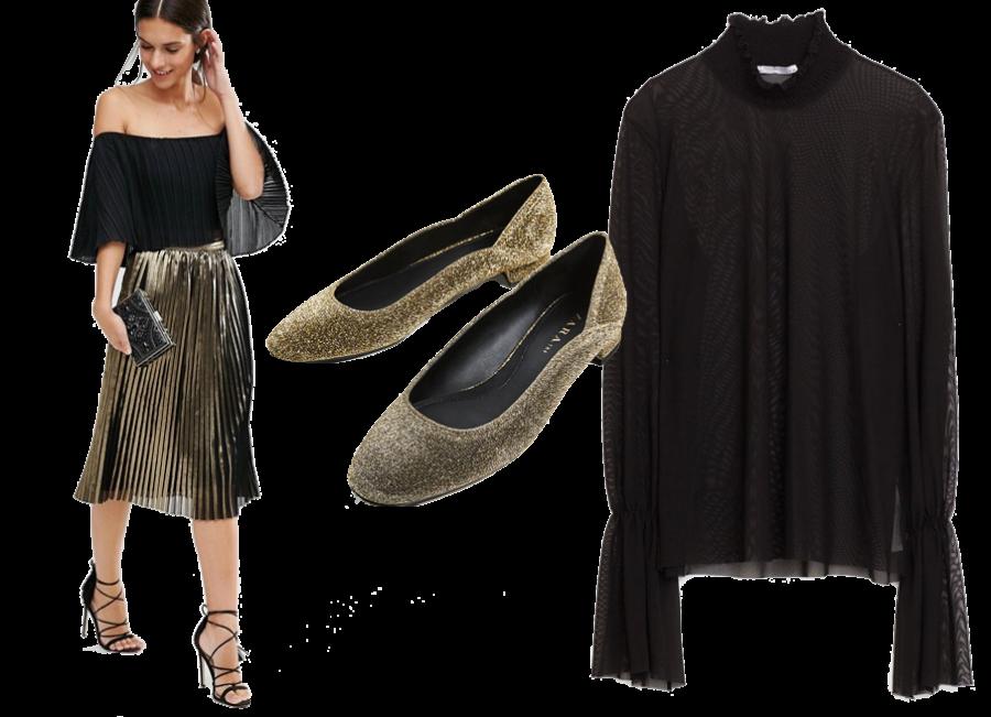 Gonna TFNC 60€/ Camicia Zara 15€ / Ballerine Zara 20€