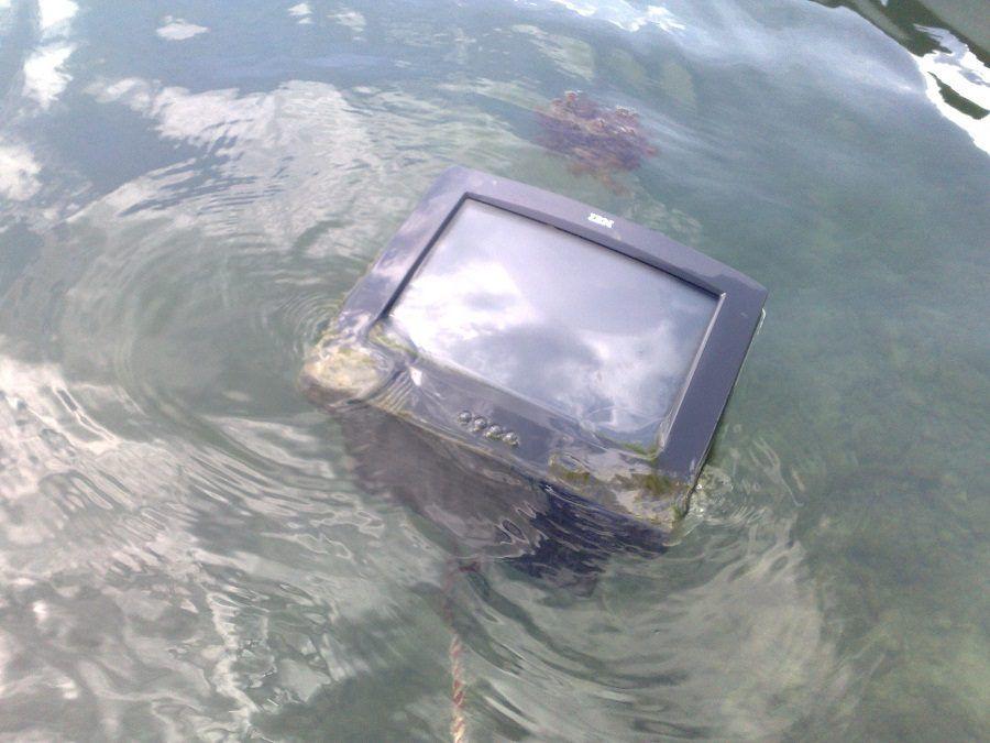 Mai bagnare il monitor del computer