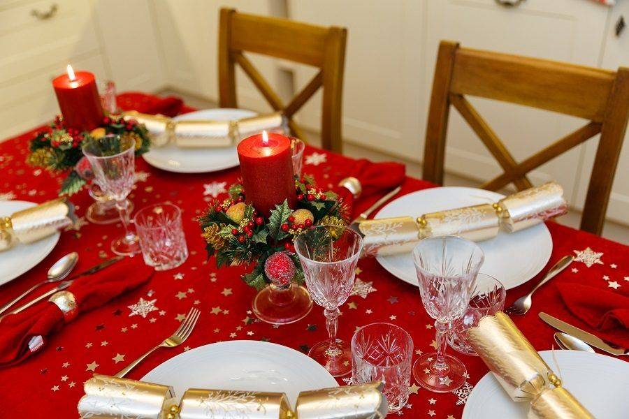 Addobbi per la tavola di Natale