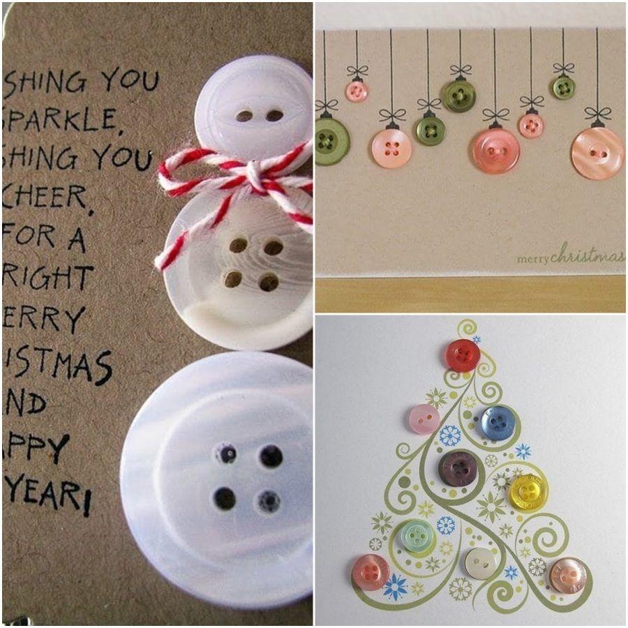 Christmas card di bottoni
