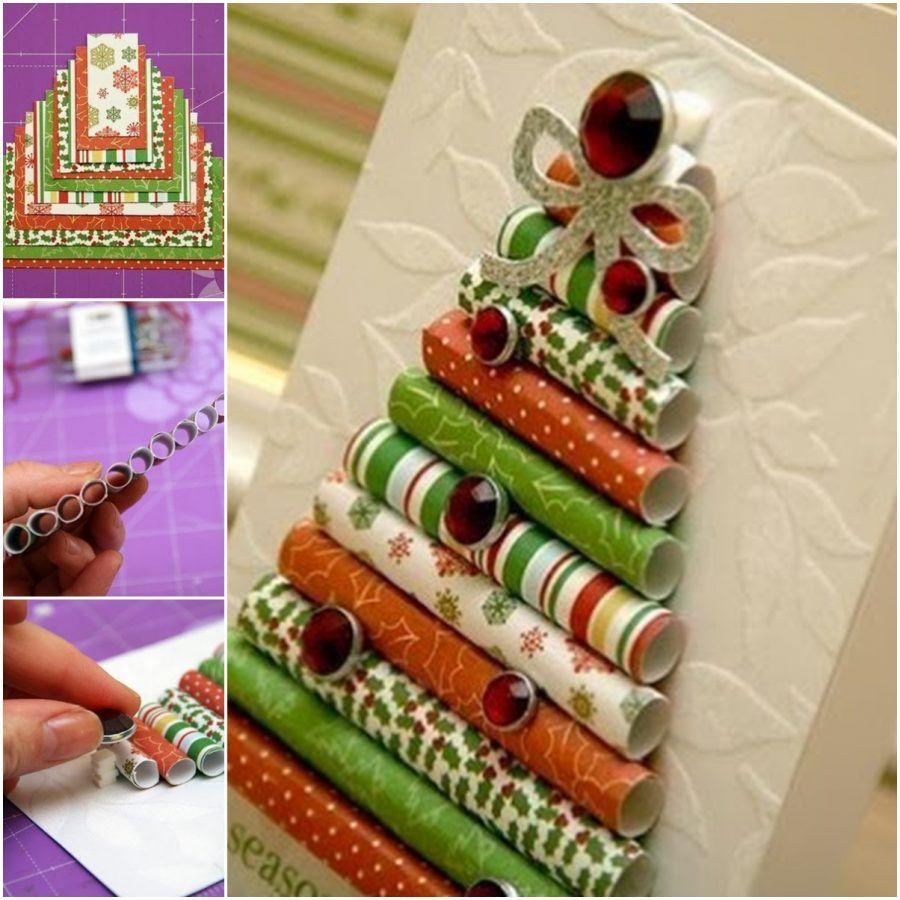 Famoso Biglietti di Natale fai da te con il riciclo creativo | Bigodino OH26