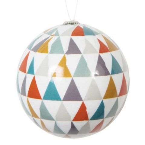 Set 12 palline motivo triangoli Seventies - 21.48