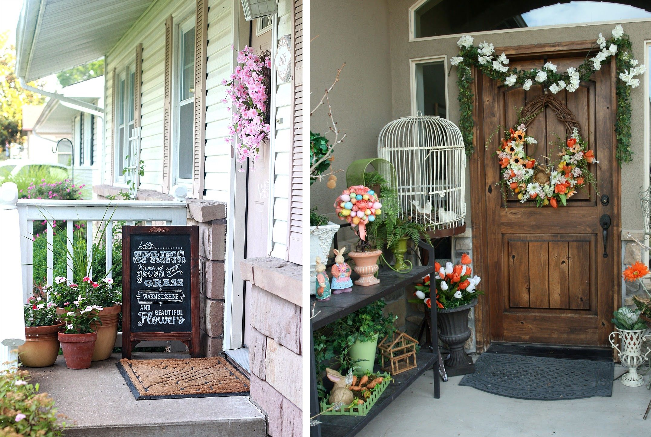 Come decorare la porta d 39 ingresso di casa in base alla stagione bigodino - Addobbi natalizi per la porta ...