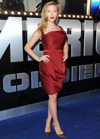 Scarlett Johansson alla premier di Captain America