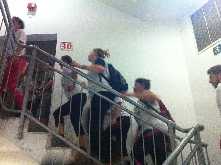 Una sessione di gruppo di Stair Climbing