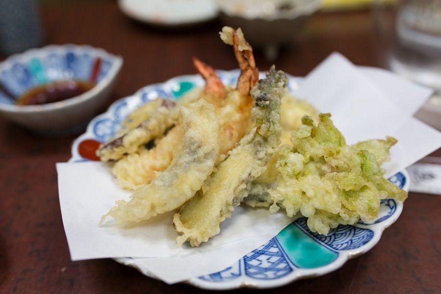 Un piatto di golosa tempura