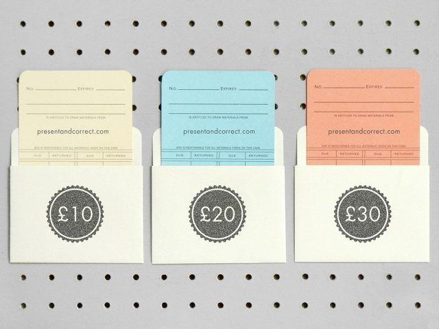 Biglietti per regalare dei voucher personalizzati - 10 sterline