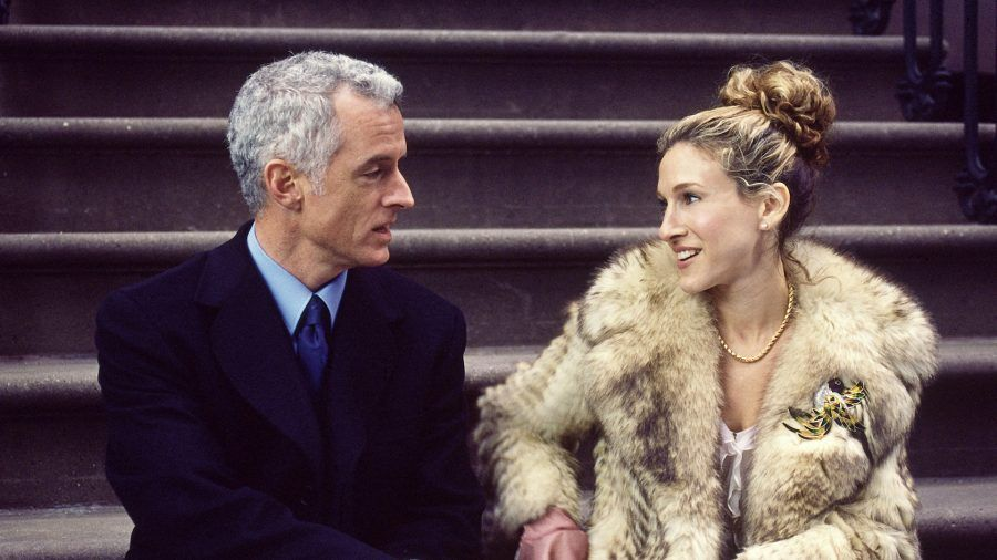 John Slattery e Sarah Jessica Parker in Sex and the City