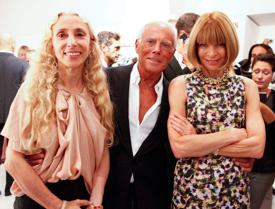 Anna Wintour , Giorgio Armani e Franca Sozzani. Foto Vogue.