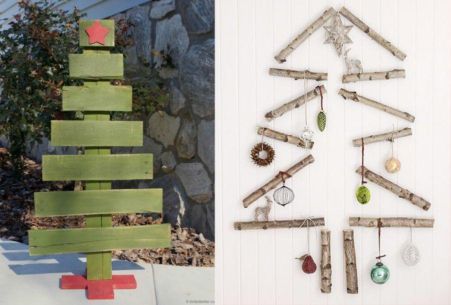 Alberi Di Natale In Legno Da Appendere : Albero di natale in legno a parete u disegni di natale