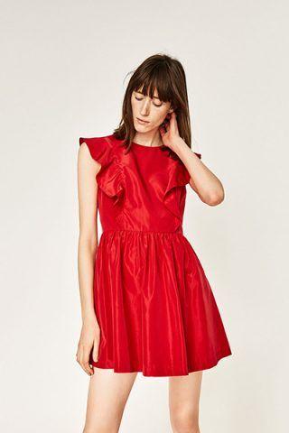 Vestito rosso con volant 39,95 €