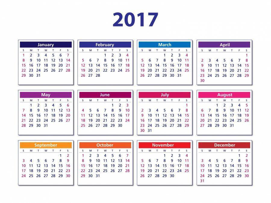 Ma che bel calendario abbiamo quest'anno!