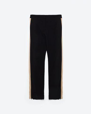 Pantaloni fascia laterale Zara €39,95