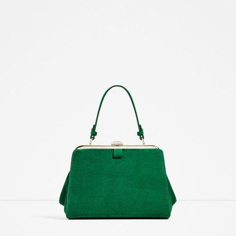-Mini city in seude verde Zara €49,95