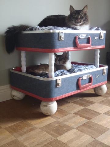 DIY cuccia a valigia da mettere in camera da letto