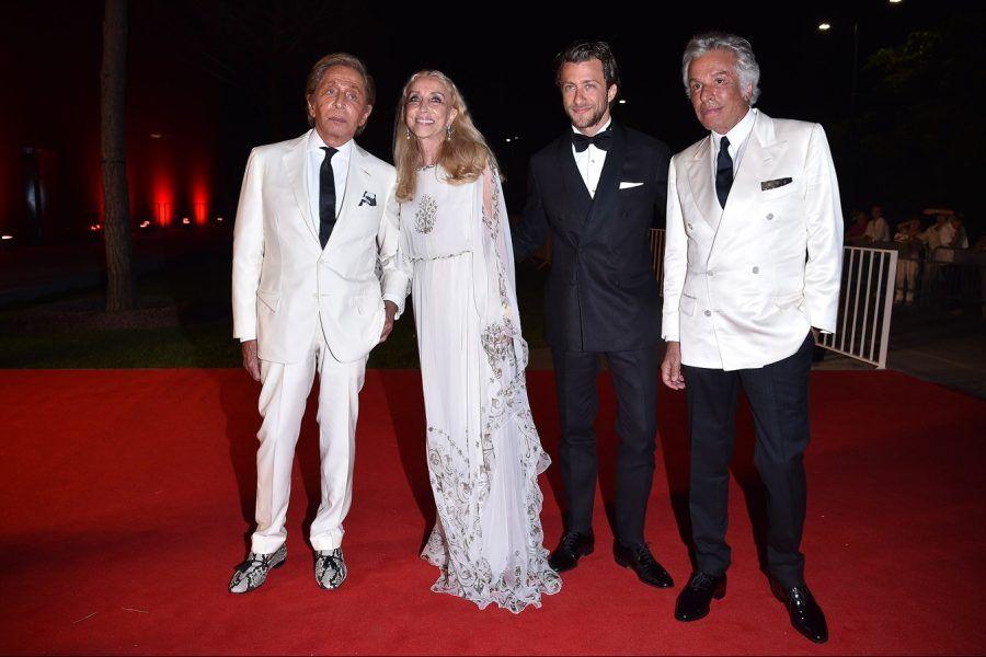 Valentino Garavani, Franca Sozzani, Francesco Carrozzini, Giancarlo Giammetti.