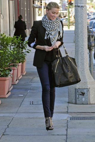 Lo stile di Amber Heard.