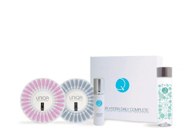Pea Cosmetics astucci Uniqa Hydra daily complete con acqua micellare, Uniqa E, Uniqa C, acido ialuronico 175 euro.