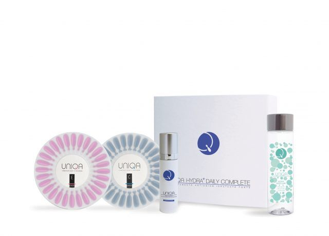 Pea Cosmetics astucci Uniqa Hydra plus daily complete con acqua micellare, Uniqa E, Uniqa C, acido ialuronico 175 euro.