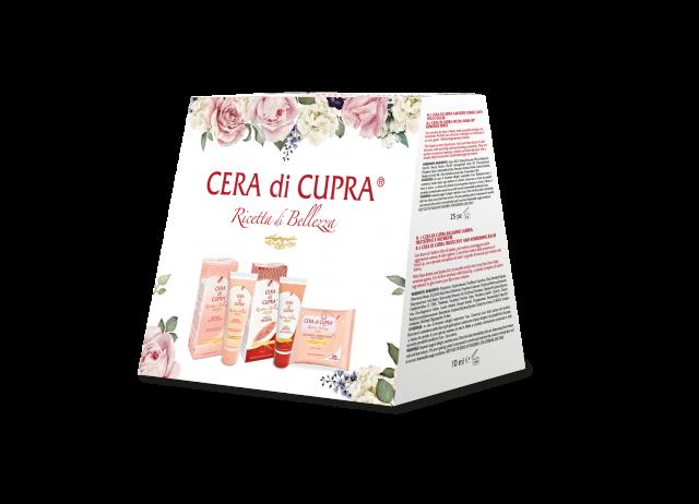 Cera di Cupra, Ricetta di Bellezza Christmas Edition: crema effetto antietà, crema mani, salviette struccanti viso e occhi, 9.90 euro.