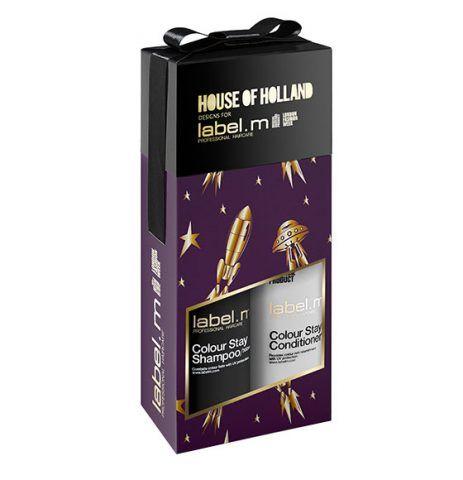 label.m House of Holland Colour Stay Duo, shampoo e balsamo. 27.50 sterline.