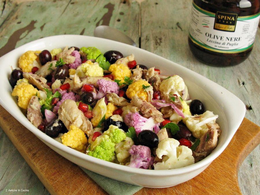 Insalata-di-cavolfiori-con-sgombro-e-olive-spina-sapori