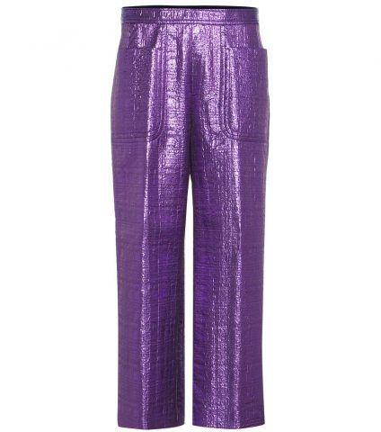 Pantaloni in lana lamé Dries Van Noten €505