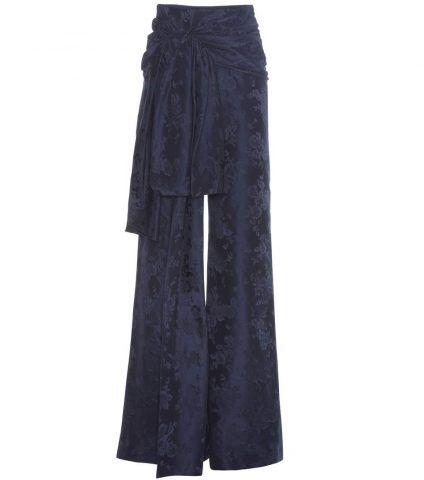 Pantaloni High Waisted Sash in jacquard Rosie Assoulin €1.970