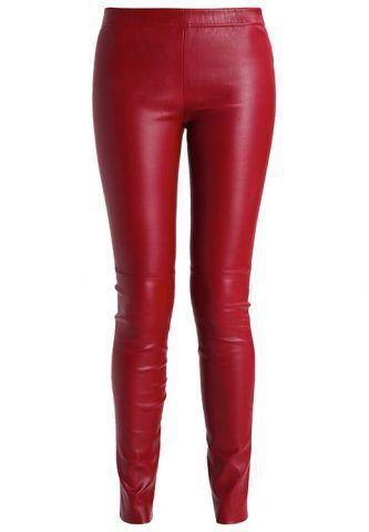 Pantaloni di pelle royal red by Zalando €1.000