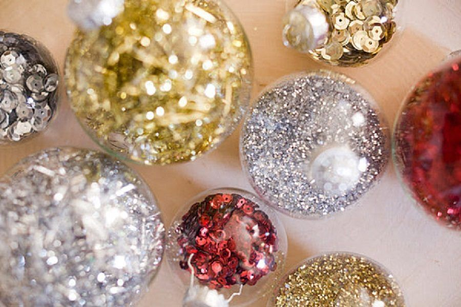 Sequin-and-glitter-Christmas-ornaments