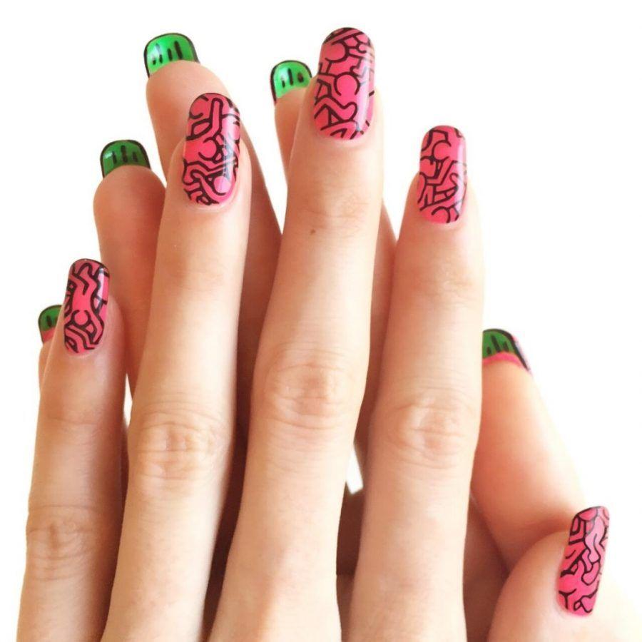 Nail art con opere d'arte