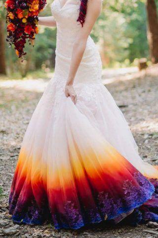 abiti da sposa 2017 dip-dyed: multicolor