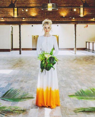 abiti da sposa 2017 dip-dyed: giallo