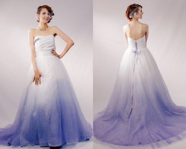abiti da sposa 2017 dip-dyed: lilla