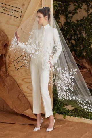 abito-da-sposa-con-pantaloni Carolina Herrera