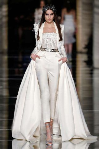abito da sposa pantalone Zuhair Murad