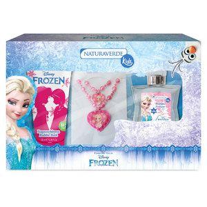 Cofanetto Beauty Charm Frozen con profumo, bagnoschiuma, bracciale e collana con ciondoli. 14,90 euro.