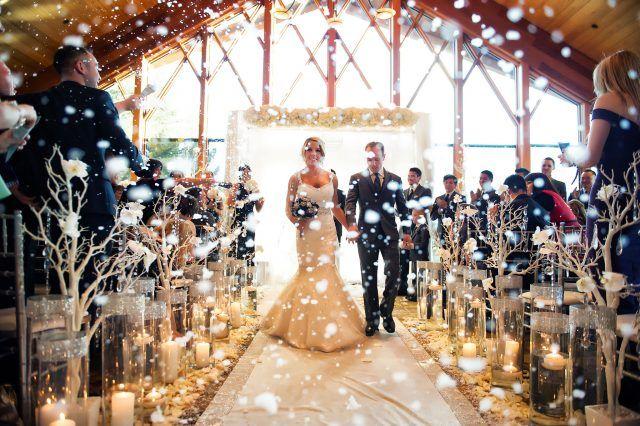 Addobbi per un matrimonio invernale... per creare una atmosfera da fiaba
