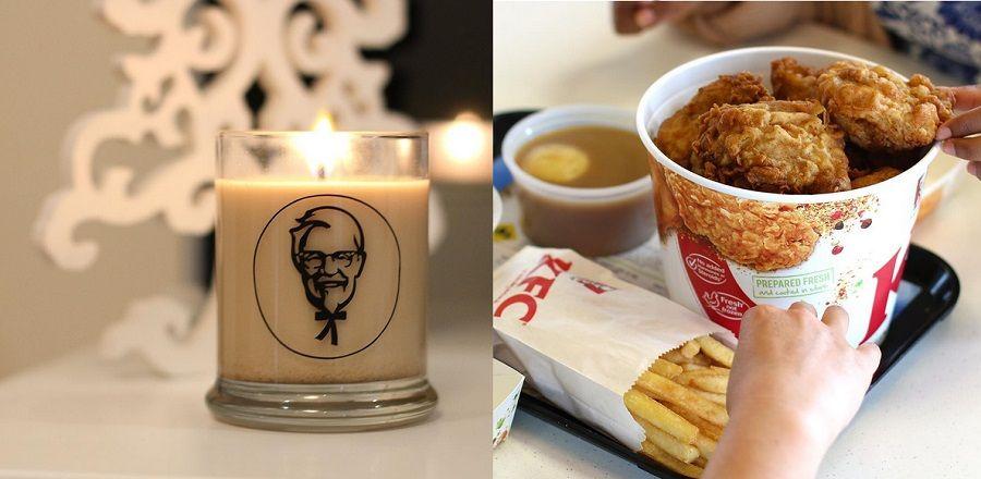 La famosa candela al profumo di pollo fritto