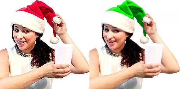 Il cappello di Babbo Natale con fiaschetta