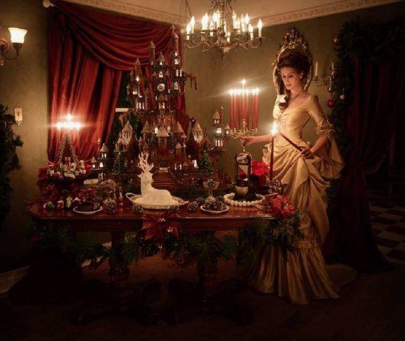 Lo stile è gotico e non proprio natalizio...