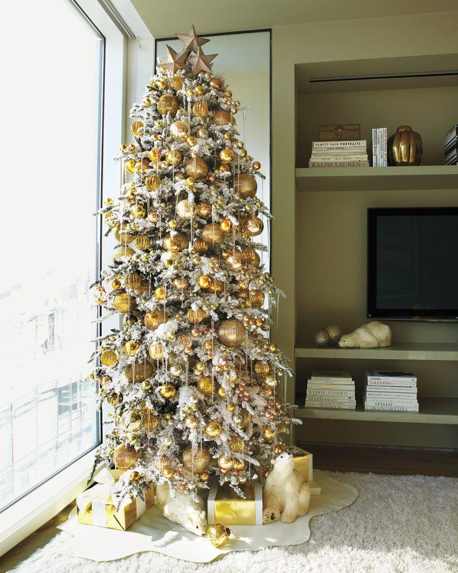 9 Ft Slim Flocked Christmas Tree