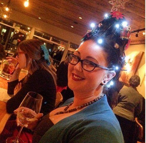 Christmas Tree Hair con led luminosi