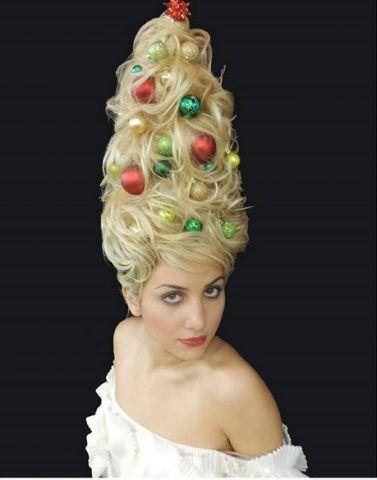 Christmas Tree Hair in stile Maria Antonietta