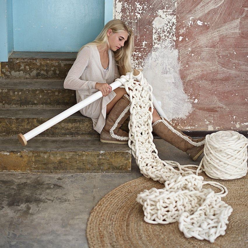 Knitting With Arms As Needles : Lana gigante cos è come si usa e dove comprarla bigodino